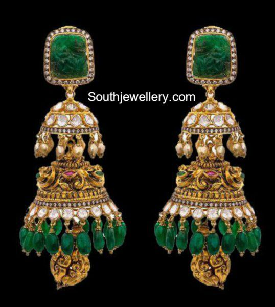 Antique Gold Jhumkas