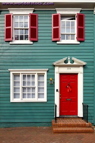 Best 25 Red Shutters Ideas On Pinterest