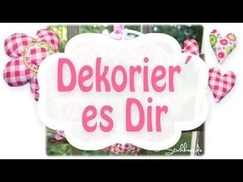 "Anleitung: Dekorier es Dir! ITH-Stickdateien Tutorial ""Decorate it"" ITH embroidery collection"