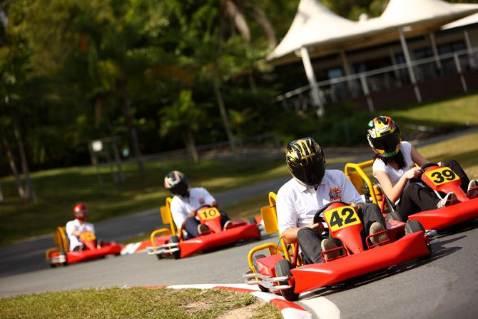 Take Dad go karting for Day 25 of our 30 Days of Father's Day and see if he can't still give you a run for your money in a race!