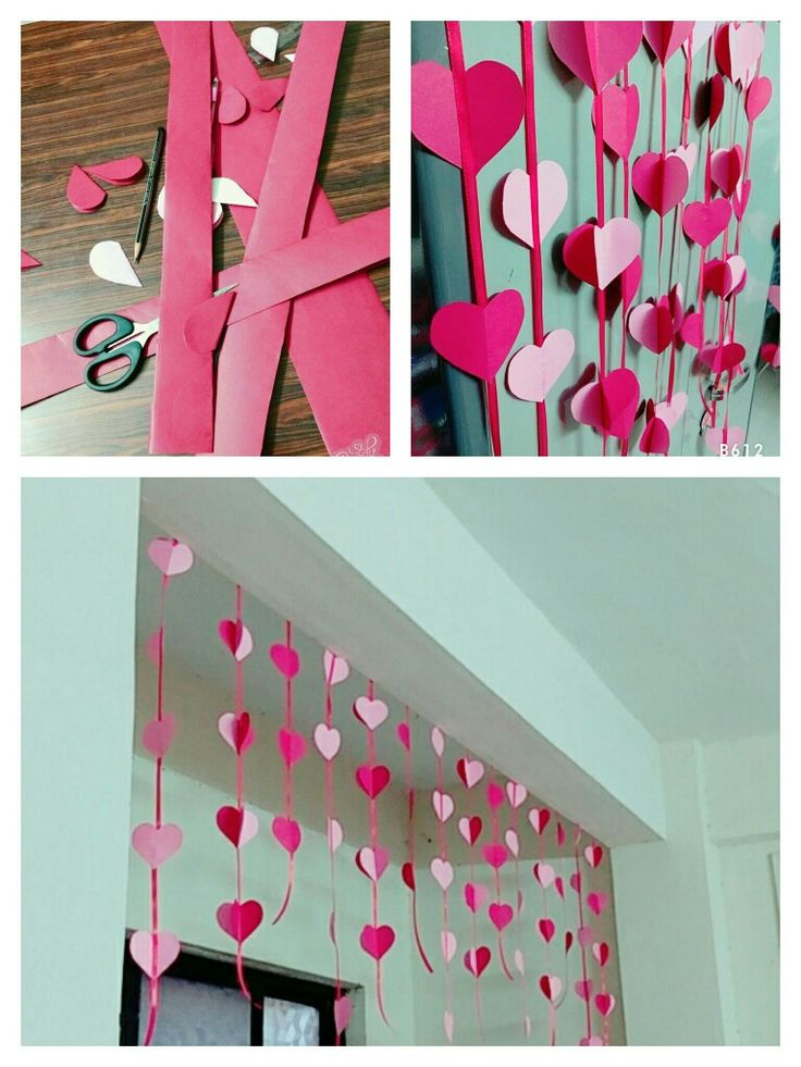Paper hearts craft... Wall hangings #homedecor #diy #cheapideas