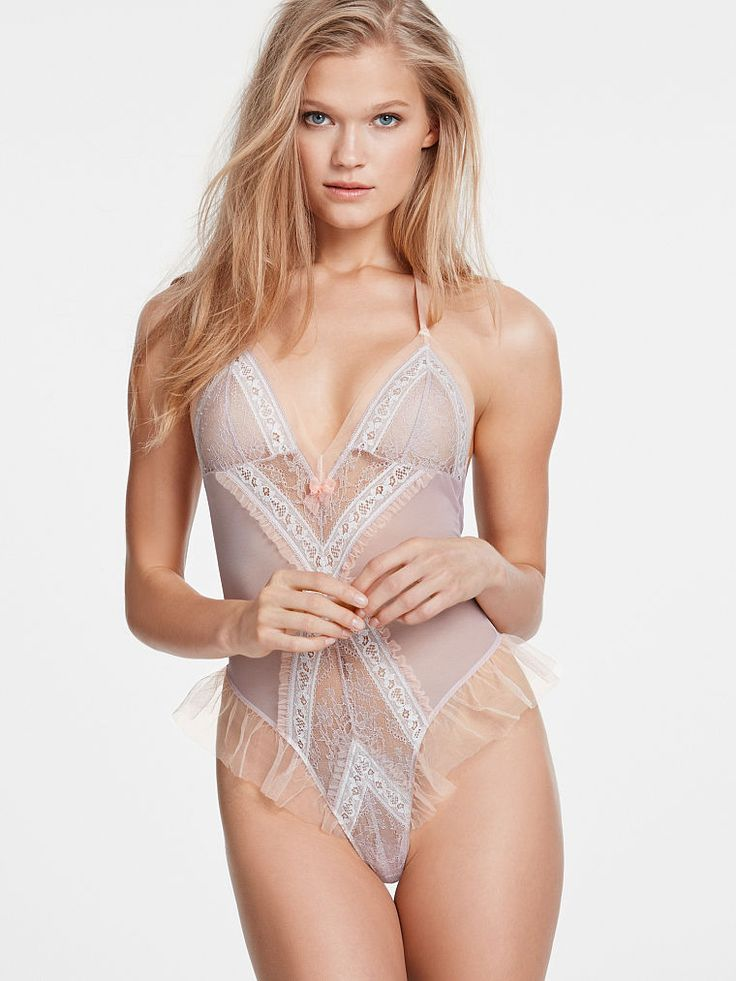 Ruffle Lace Teddy - Dream Angels - Victoria's Secret