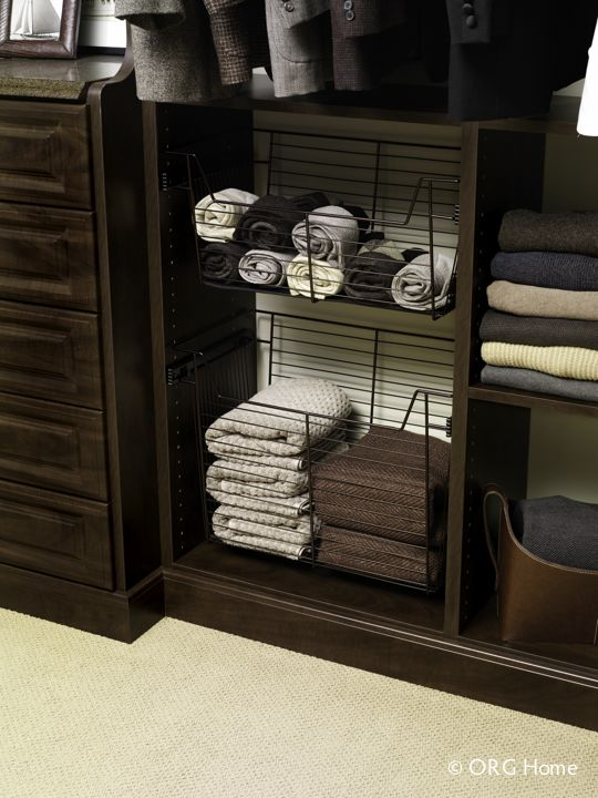 Perfect Closet Sliding Wire Basket Storage