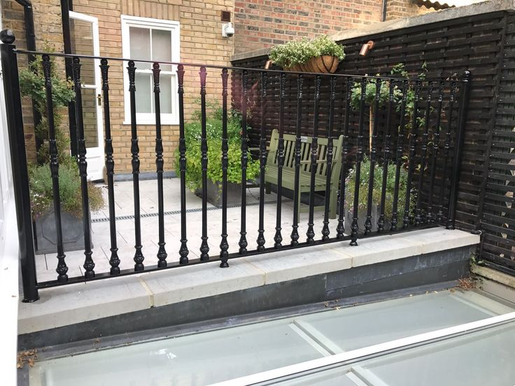 Our RSG4200 Iron Cast Railings fitted to a residential project in Central London.