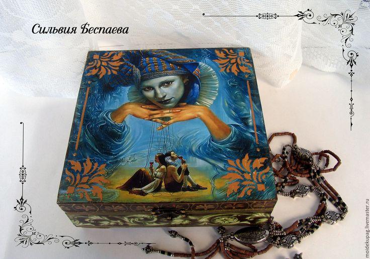 Купить Деревянная шкатулка для украшений Вся жизнь театр - шкатулка ручной работы, шкатулка для мелочей