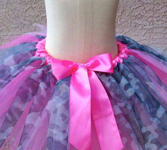 Hot Pink Camouflage Tutu Toddler Size by jujustutus on Etsy