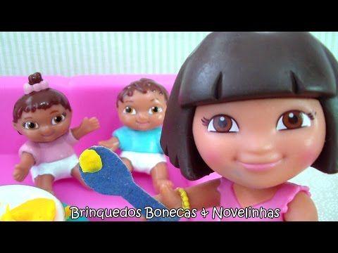 Dora Aventureira em Português 1 hour Compilação Cuida dos Gêmeos Twins Dora the Explorer babysitter - YouTube