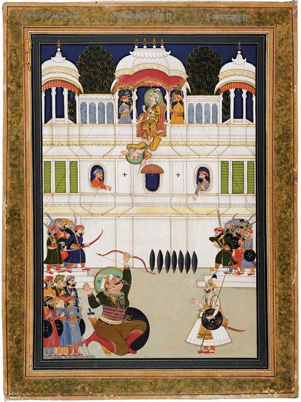 Prithviraj Chauhan (1149-1192) shooting Muhammad Ghori