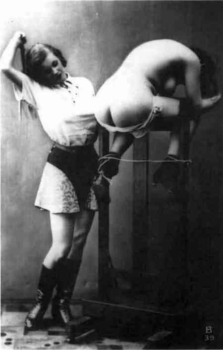 Lesbian spank art