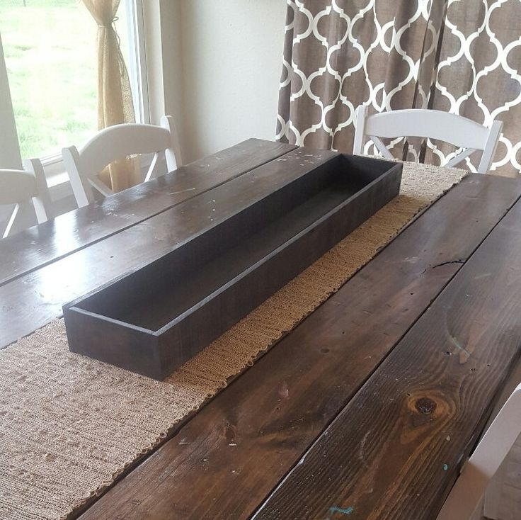 Table Trough, Pallet Art, Dining Decor, Dining Table Decor, Kitchen Decor, Kitchen Table Decor, Farmhouse Decor, Centerpiece by RagdollAnnies on Etsy