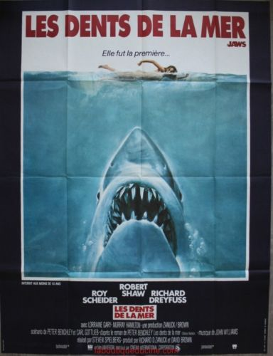 ... DE LA MER Jaws Affiche Cinéma Originale Movie Poster STEVEN SPIELBERG
