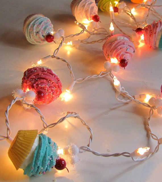 Fake Cupcake Cupcake Lovers String Lights 10 by 12LegsCuriosities, $45.00