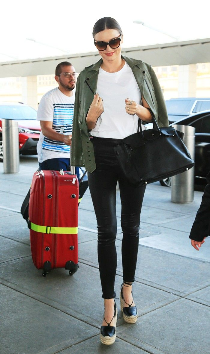 7 Summer Travel Outfits to Get You Through the Airport in Style via @WhoWhatWear