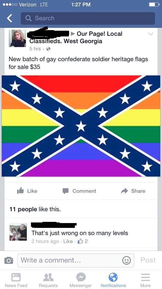 Gay Pride Confederate Flags for Sale in Georgia - Jibajabaz