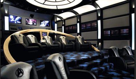 10 Awesome Home TheatersHome Theaters, Movie Theater, Stars Trek, Media Room, The Bridges, Startrek, Man Caves, Home Theater Room, Star Trek