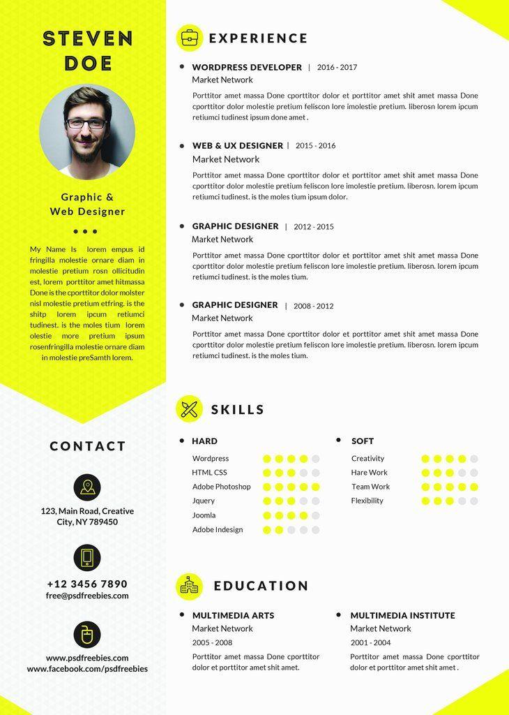 les 7 meilleures images du tableau cv design      design resume sur pinterest