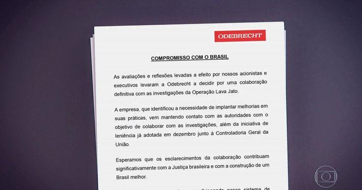 Grupo Odebrecht diz em nota que pretende colaborar com a Lava Jato