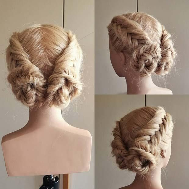 21 Beautiful Braided Updo Ideas for the Holidays: …