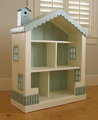 This is a cute wooden dollhouse. The thing I love about this one is it has some cute little details but is simple enough that the child can use thier imagianation when playing.
