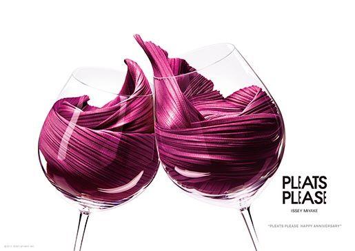 Issey Miyake 'Pleats Please' Anniversary Campaign print ad by Taku Satoh Design.