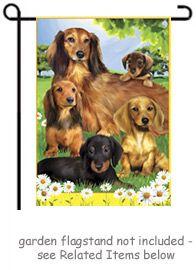 Dachshund Quintet Dogs Garden Size X Approx) Dog Flag PR 51481