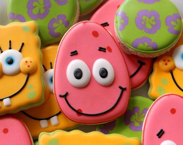 Bob and Patrick cookies: Stars Cookies, Patrick'S Stars, Patrick'S Cookies, Food And Drink, Birthday Theme, Simple Patrick'S, Spongebob Cookies, Beautiful Cookies, Spongebob Birthday