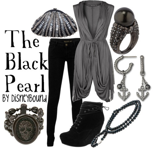 The Black Pearl by Disneybound  -  Love the top and the jewels, not in love with the shoes.