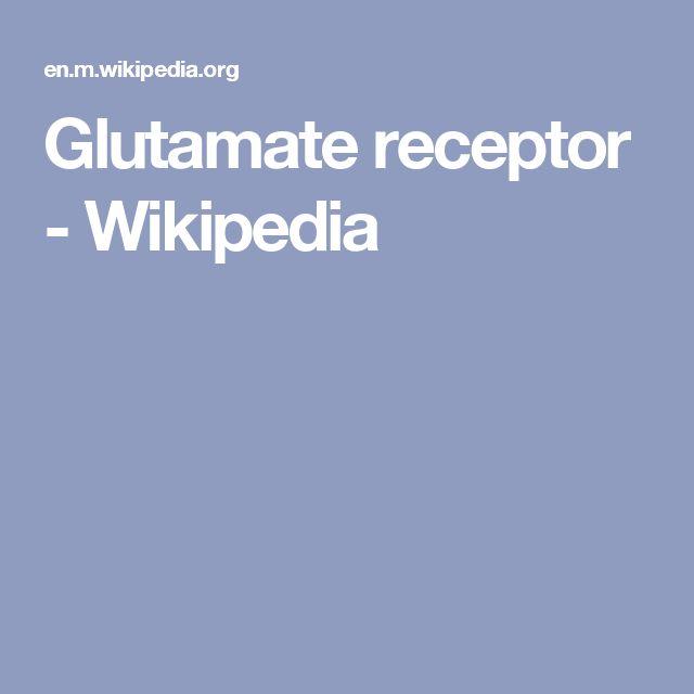 Glutamate receptor - Wikipedia