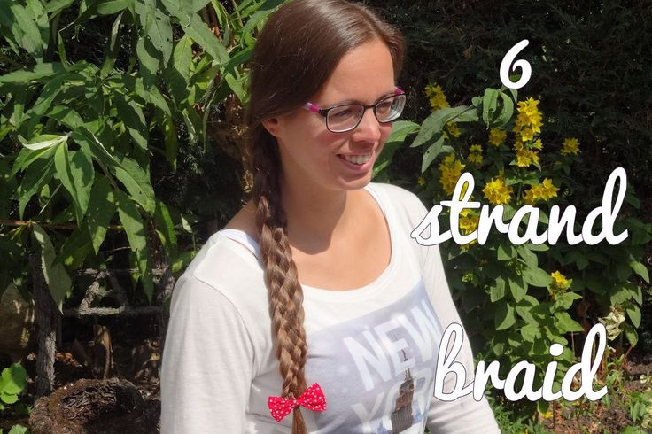 Learn how to do this 6 strand braid yourself! Also subscribe!