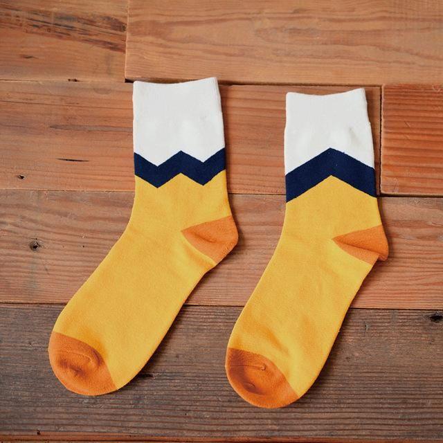 S82 Cotton Lemon Dog Pattern Women/men Kawaii Sock…