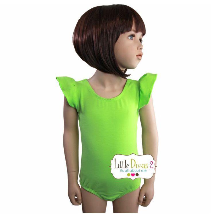 Lime Green Leotard (Child) FLUTTER/RUFFLE Sleeve Leotard by LittleDivas2 on Etsy https://www.etsy.com/listing/95263679/lime-green-leotard-child-flutterruffle