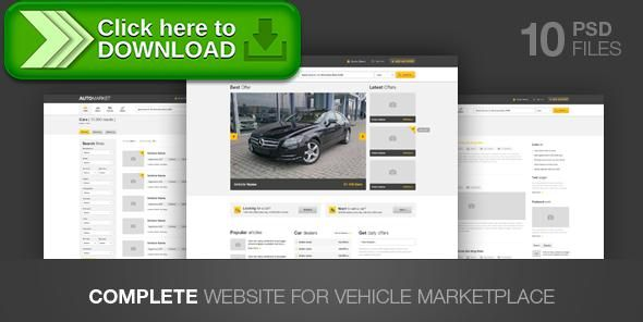 [ThemeForest]Free nulled download AutoMarket - Vehicle Marketplace from http://zippyfile.download/f.php?id=2751 Tags: auto-salon, automobile, business, car, Car-Dealer, car-gallery, car-selling-template, cars, clean, dealer, marketplace, sell, vehicle