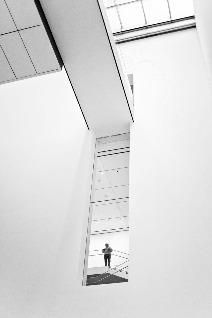 - man in MoMA. new york, new york.