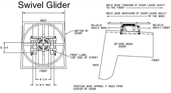 Glider chair and swivel glider Parts