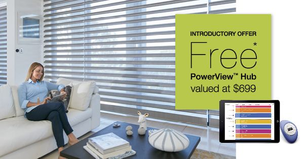 From the 1st - 30th June 2016, take advantage of our introductory offer of a free PowerView hub valued at $699 and discover the Luxaflex difference. Conditions apply.  #luxaflexaus #PowerViewAus #houseoftomorrow #technology #homeautomation #pebble #connectedhome #wirelesshome #innovation #gadget