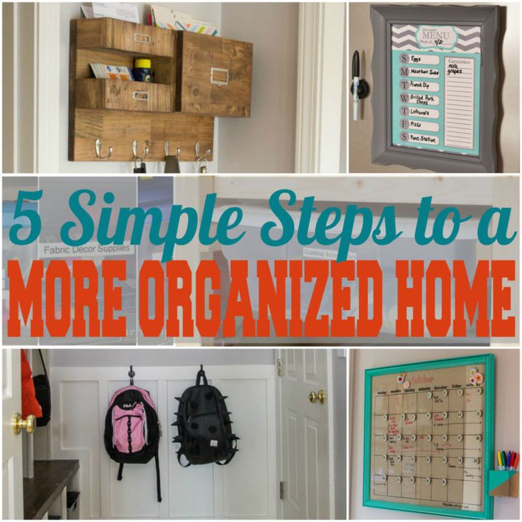 Are you tired of living in chaos but overwhelmed at the thought of organizing your home? Start with these five simple steps to a happier, more organized home! | #Ad