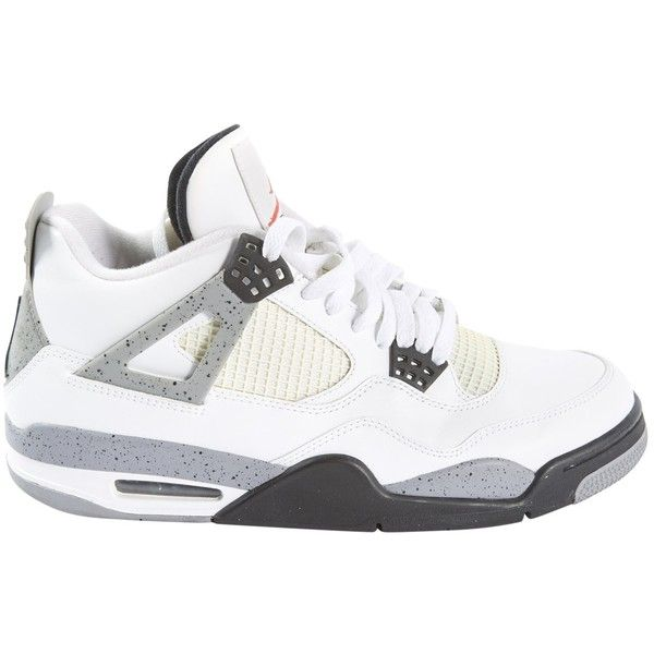 Pre-owned Jordan Leather High Trainers ($167) ❤ liked on Polyvore featuring men's fashion, men's shoes, men's sneakers, shoes, sneakers, men shoes trainers, white, mens sneakers, mens white sneakers and mens leather shoes