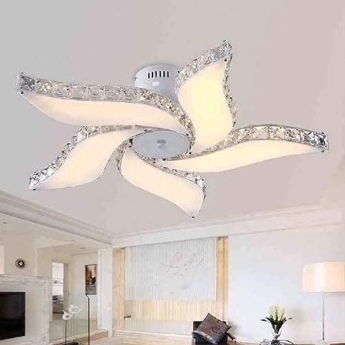 LightInTheBox Led Ceiling Lamps 5 Light Simple Modern Artistic Flush Mounted Uplight For Living Room 1 Tier LED Integrated