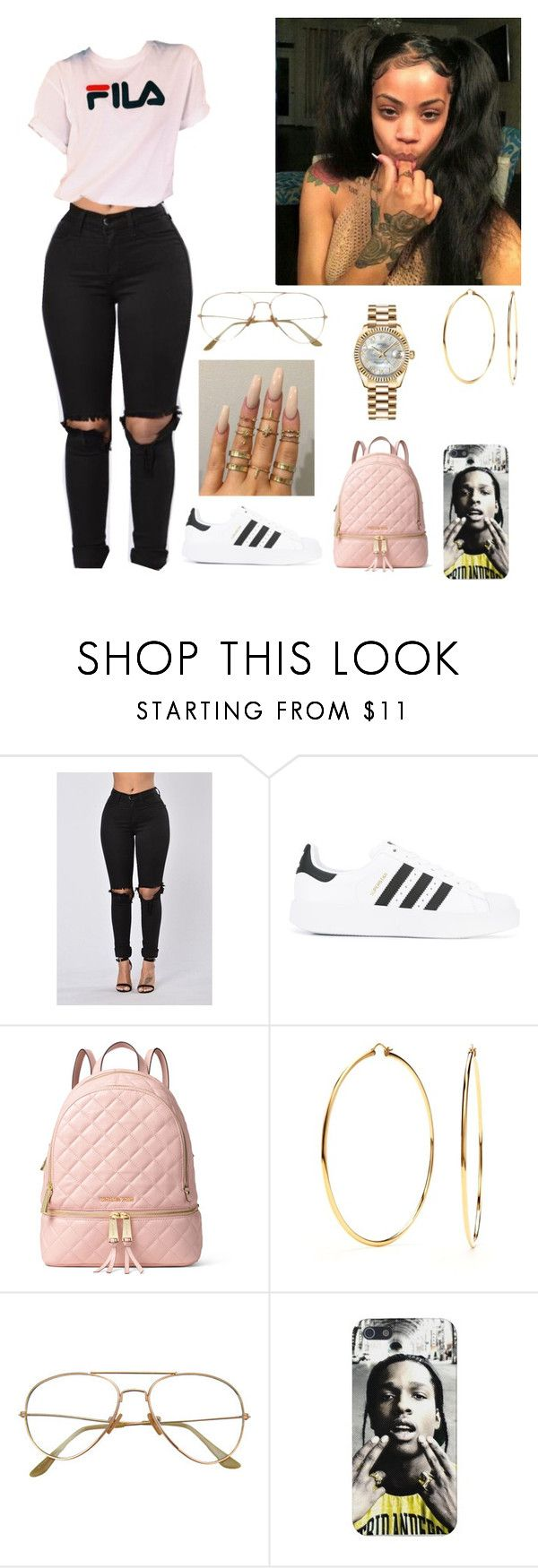"""""""Untitled #225"""" by dopej143 on Polyvore featuring adidas, MICHAEL Michael Kors, Nadri and Rolex"""