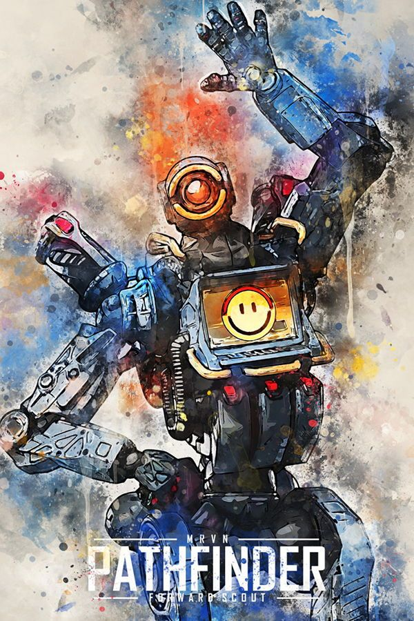 Pathfinder Apex Legends Abstract Poster Print Metal Posters