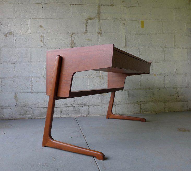 Mid Century Modern Teak Desk