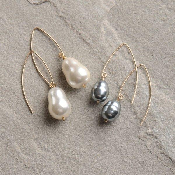 Hazen Laurel Pearl Earrings