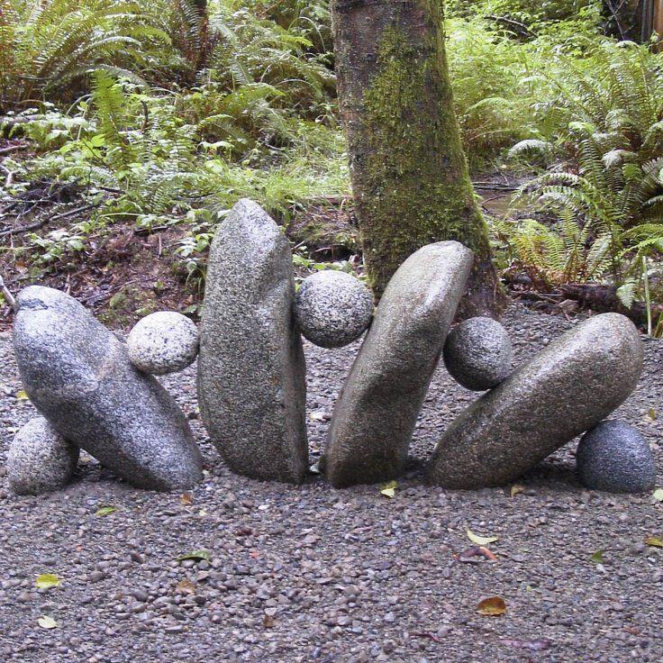 DYI stone garden sculpture
