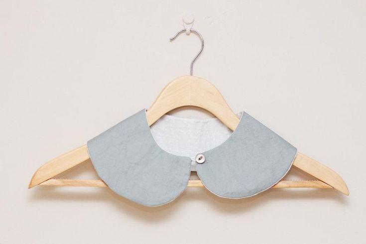 Detachable Peter Pan Collar in Grey, by LumiStudio