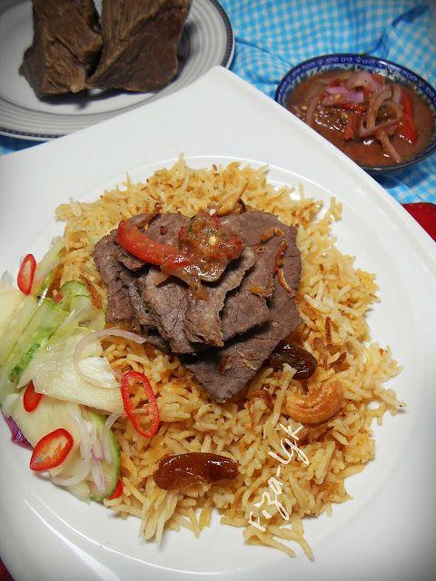 NASI DAGING DENGAN AIR ASAM BERKERISIK | Fiza's Cooking