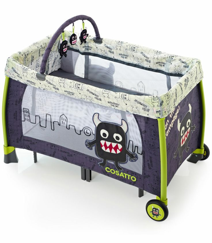Buy your Cosatto Moon Unit Travel Cot - Little Monster from Kiddicare Travel Cots| Online baby shop | Nursery Equipment