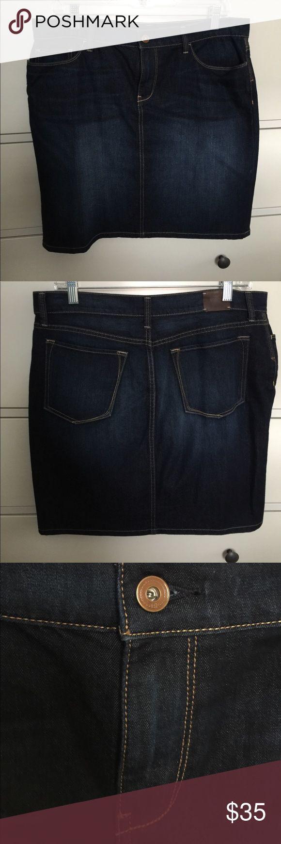 Mini jeans skirt- Banana Republic NWOT Brand new mini blue jeans pencil skirt, never worn, soft, stretch. Banana Republic Skirts Mini