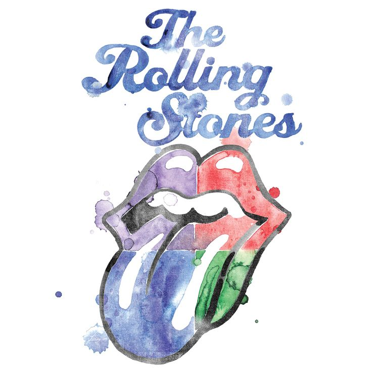 Watercolor Tongue von The Rolling Stones - T-Shirt jetzt im Rolling Stones Shop