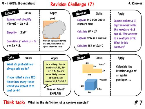 10 best gcse maths revision 9 1 resources images on pinterest gcse math revision placemat revision 2nd set of 6 answers algebra number fandeluxe Images