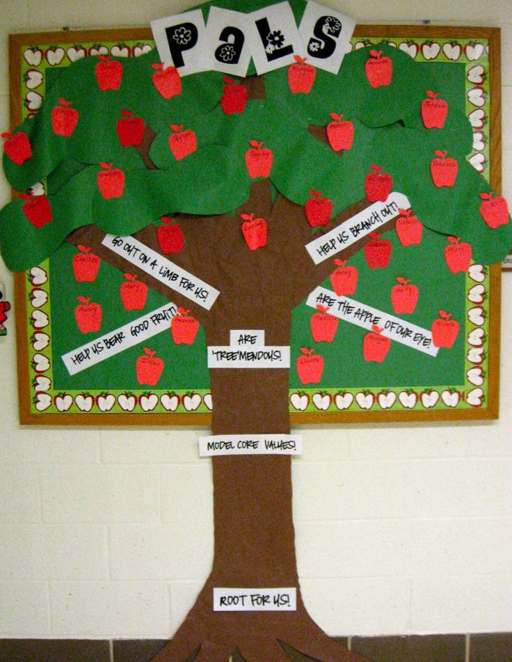 Our Newest Crop Of PALs Apple theme, Bulletin board tree